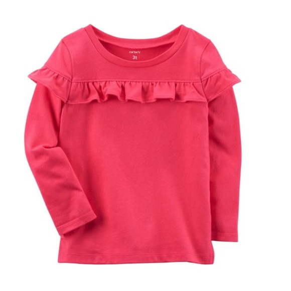 Carter's Other - Carter's reddish ruffle top 2T